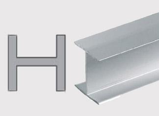 Konstrukční hliníkové H profily