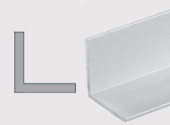Konstrukční hliníkové L profily
