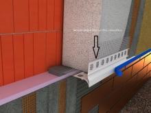 Montáž zakládací lišty (profilu) s okapničkou a tkaninou (perlinkou), cena práce za bm bez materiálu