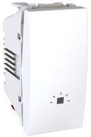 Ovládač tlačítkový Unica se symbolem světlo, 1 modul, bílý
