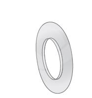 Komínové zakrývací mezikruží odkouření pro kondenzační kotle