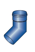 Koleno pro kondenzační kotle