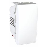 Ovládač tlačítkový se šroubovými svorkami Unica, 1 modul, bílý