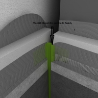 Montáž dilatačního profilu do fasády cena práce za m/b  bez materiálu