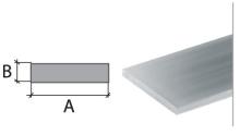 Plochý profil Cezar eloxovaný hliník 25x2mm 2m