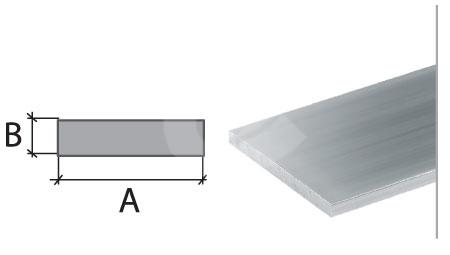 Plochý profil Cezar eloxovaný hliník 20x2mm 2m