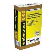 Vápeno-sádrová vyrovnávací omítka pro vnitřní použití Weber mur 5-50 25kg
