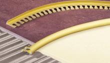 Obloučková ukončovací lišta otevřená ohýbací Cezar přírodní hliník 8 mm 2,5 m