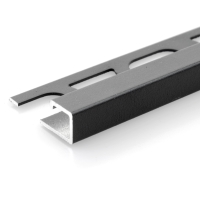 Čtvercový ukončovací profil Profilpas hliník lakovaný matný antracit 12,5mm 2,7m