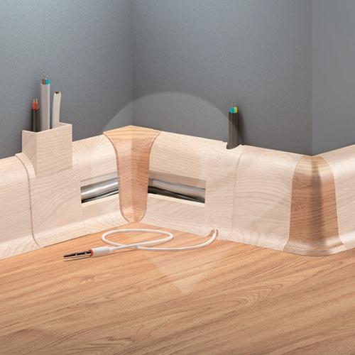Cezar DUO vnější roh, PVC, 59mm, jasan světlý, dekor 084