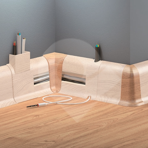 Cezar DUO vnitřní roh, PVC, 59mm, pínie, dekor 091 2ks/bal