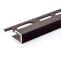 Čtvercový ukončovací profil Profilpas hliník lakovaný matná tmavě hnědá 12,5mm 2,7m