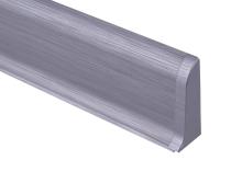 Cezar PREMIUM koncovka pravá, PVC, 59mm, leštěný hliník, dekor 201