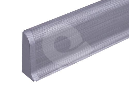 Cezar PREMIUM koncovka levá, PVC, 59mm, leštěný hliník, dekor 201
