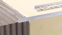 Ukončovací L profil Cezar hliník přírodní stříbrný 12,5mm 2,5m