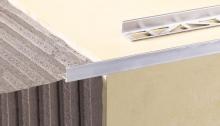 Ukončovací L profil Cezar lakovaný hliník bílý RAL 9016 10mm 2,5m