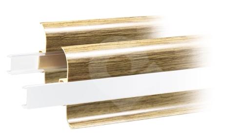 Podlahová krytka pro led pásek do soklové lišty Cezar premium transparentní 2,5m