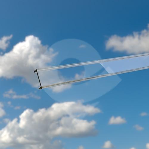 Cezar krytka pro lištu s LED páskem transparentní 2m