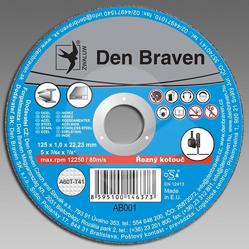 Den Braven řezný kotouč kov/inox A46T(A30S)-150x1.6x22.23-T41