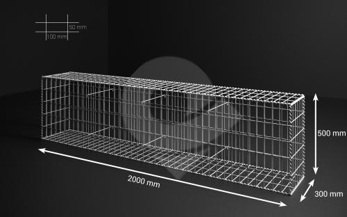Gabionový koš 200x50x30, velikost oka 5x10cm