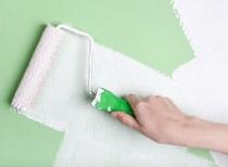 Malování stěny štětkou běžnou interiérovou bílou barvou v 1 vrstvě, cena práce za m2