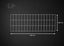 Gabionová síť 80x30cm, velikost oka 5x10cm, pr. drátu 4mm
