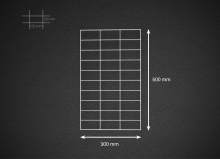 Gabionová síť 50x30cm, velikost oka 5x10cm, pr. drátu 4mm