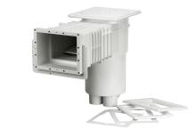 Skimmer VA sání 215x160mm pro fólie, prodloužené hrdlo s mosaznými zástřiky