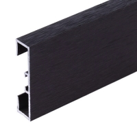 Podlahová soklová lišta Profilpas hliník kartáčovaný karbon 40 mm 2 m