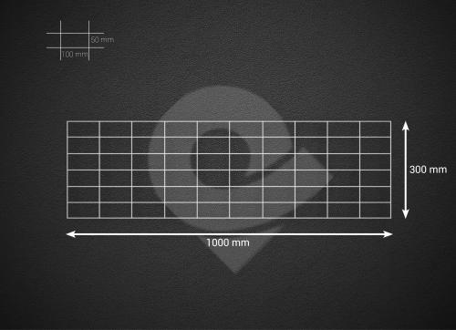 Gabionová síť 100x30cm, velikost oka 5x10cm, pr. drátu 4mm