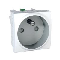 Zásuvka bílá Unica 2 moduly