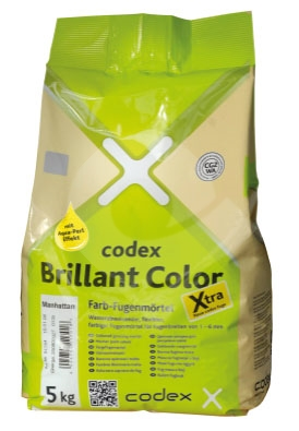 Spárovací hmota stříbrošedá CODEX Brillant Color Flex. Xtra 12,5kg