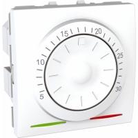 Termostat Unica otočný, 2 moduly bílý