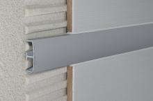 Lišta do obkladů dekorační dělící AL eloxovaný stříbrný, 14 mm, 2,7 m