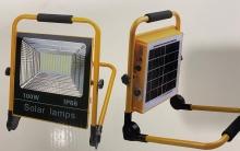 Pracovní reflektor přenosný PROFI LED AKU 100 W IP 66 Solární nabíjení