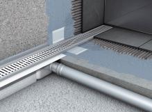 Instalace odtokového žlabu do sprchového koutu a zapojeni na kanalizaci cena za kus (cena za práce bez materiálu )