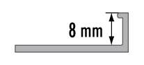 Lišta ukončovací L profil Cezar eloxovaný hliník zlatý 8mm 2,5m