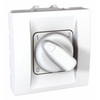 Otočný spínač Unica 40-300 W/VA, 2 moduly bílý