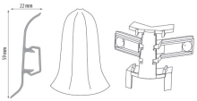 Cezar PREMIUM vnější roh, PVC, 59mm, jasan bílý, dekor 229