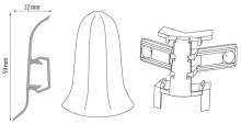 Cezar PREMIUM vnější roh, PVC, 59mm, jasan nordický, dekor 165