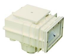 Skimmer V20 pro fólie 200x150mm s mosaznými zástřiky M6, napojení 50, 63mm
