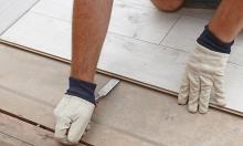Odstranění plovoucí podlahy, korku, lina, cena práce za m2