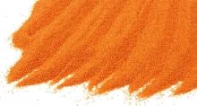 Křemičitý písek barevný jasně oranžový 0,8-1,2mm 25kg