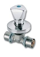Mosazný podomítkový uzavírací ventil Press Ivar.PT 5726