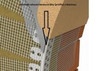 Montáž rohové klenbové lišty (profilu) s tkaninou (perlinkou), cena práce za bm bez materiálu