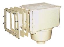 Skimmer V10 ABS pro fólie, 150x150mm s mosaznými zástřiky, napojení 50, 63mm