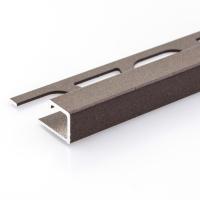 Čtvercový ukončovací profil Profilpas hliník lakovaný matná rez 12,5mm 2,7m