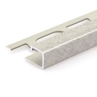 Čtvercový ukončovací profil Profilpas eloxovaný hliník titan kartáčovaný 10mm 2,7m