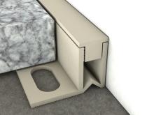 Dilatační lišta pro nízké tloušťky Profilpas Projoint NJ/SA stěna/podlaha pvc šedý kámen RAL 7030 15mm 2,7m