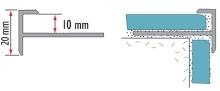 Schodová lišta pro dlažbu Cezar eloxovaný hliník champagne 10mm 3m